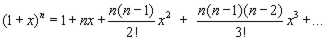 binomial expansion particular solution