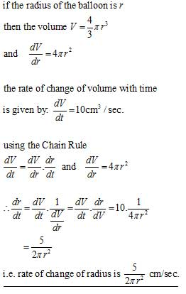 The Chain Rule rates of change #1