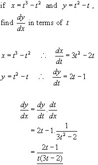 PARAMETRIC EQUATIONS, differential calculus from A-level ...