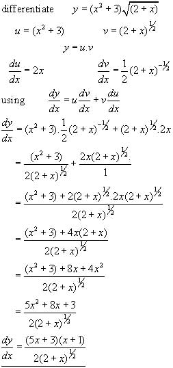 product rule problem #3