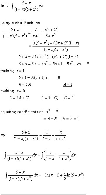 integration algebraic fractions#2