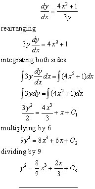 separable differential equations problem#1