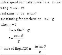 equation for time of flight