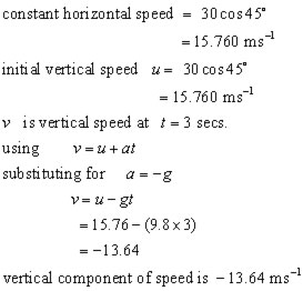 projectile  vector problem #1a
