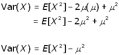 variance and expected value