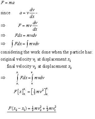 Work & Energy, Mechanics - from A-level Maths Tutor